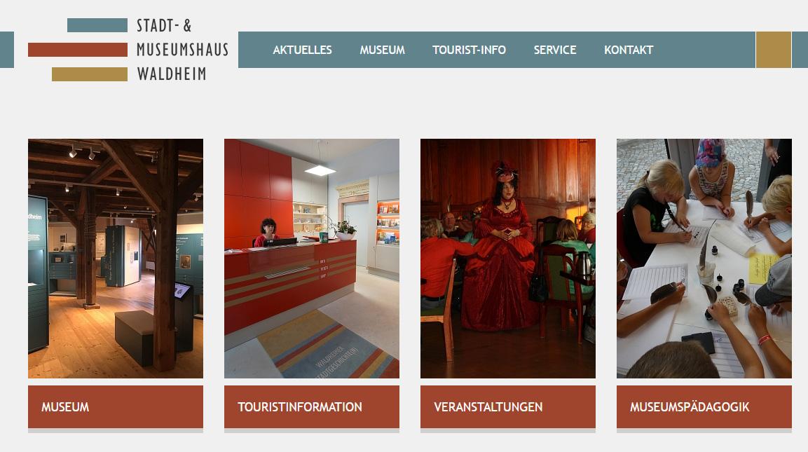 Webseite Stadt- und Museumshaus Waldheim©Stadt Waldheim